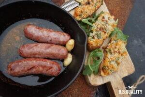 Zoete aardappelstamppot met Iberico braadworst recept | BBQuality